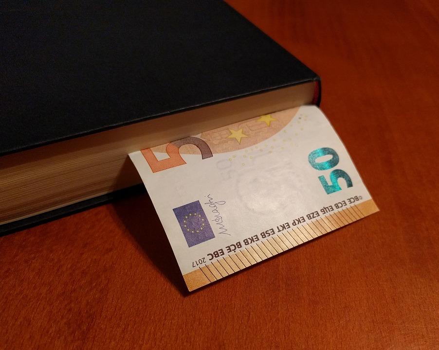 bankovka v knížce