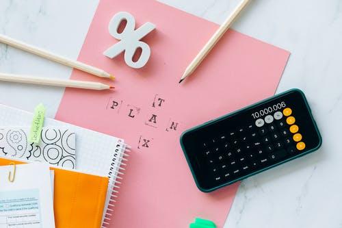 kalkulačka papíry